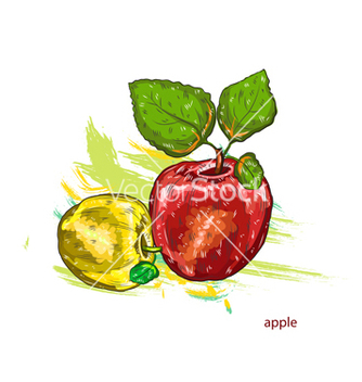 Free apples with colorful splashes vector - Kostenloses vector #243307