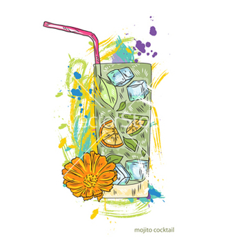 Free mojito cocktail vector - Free vector #243357