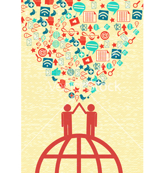 Free social media concept vector - Free vector #243397