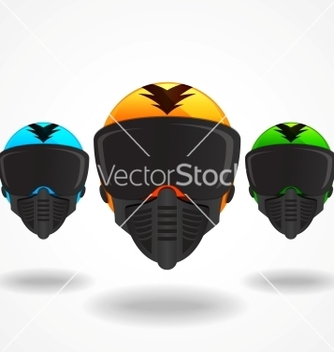 Free colored helmets vector - Kostenloses vector #243457