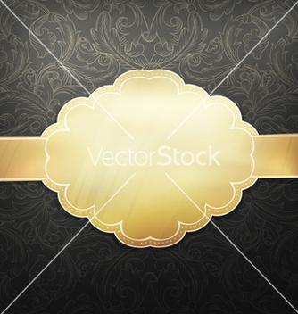 Free retro golden card vector - vector gratuit #243497