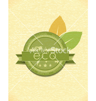 Free eco friendly label vector - vector gratuit #243707