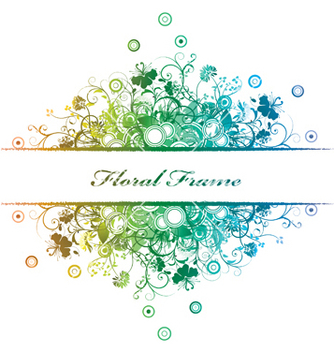 Free floral frame vector - Free vector #244037