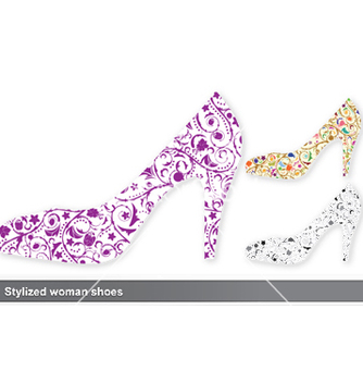 Free stylized woman shoes vector - Free vector #244067