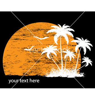 Free vintage summer background with palm trees and vector - vector gratuit #244157
