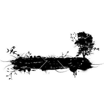 Free grunge with tree and birds vector - Free vector #244177