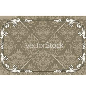 Free vintage floral frame vector - Free vector #244337