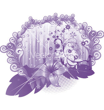 Free abstract floral vector - Kostenloses vector #244357
