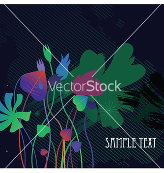 Free floral with splash vector - Free vector #244517