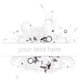 Free retro floral frame vector - Free vector #244697