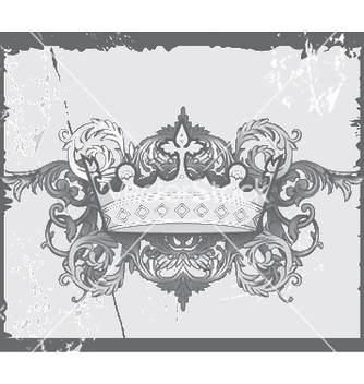 Free crown with baroque floral vector - Free vector #244827