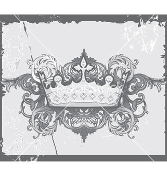 Free crown with baroque floral vector - vector gratuit(e) #244827