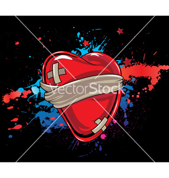 Free heart with splash vector - vector gratuit #244927