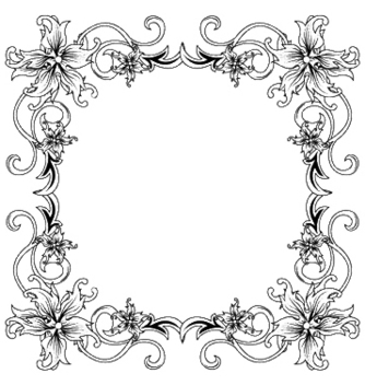 Free floral frame vector - Kostenloses vector #245137