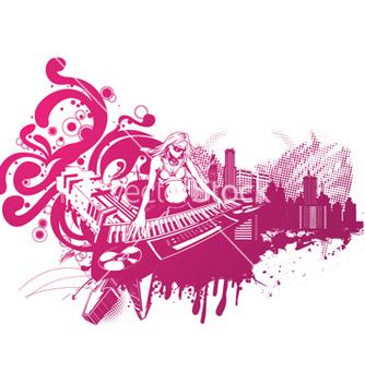 Free concert poster with dj girl vector - Kostenloses vector #245157