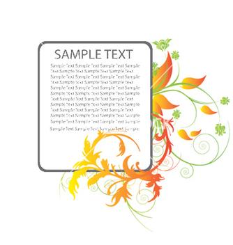 Free floral frame vector - Kostenloses vector #245217