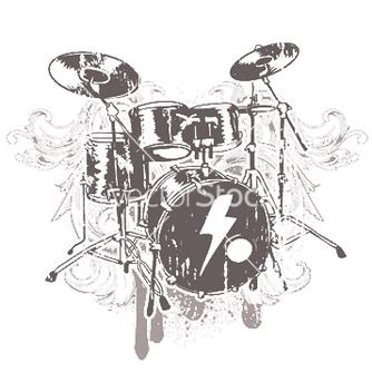 Free drums emblem vector - Kostenloses vector #245237
