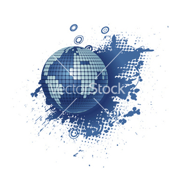 Free globe with grunge vector - Kostenloses vector #245407