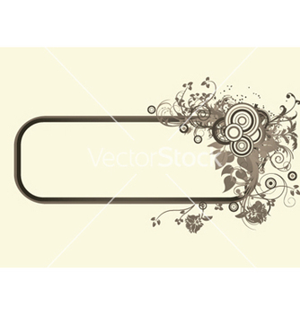 Free retro floral frame vector - Free vector #245567