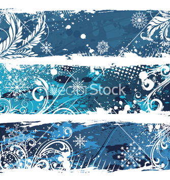 Free christmas web banners vector - Free vector #245677