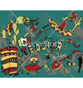Free mexico doodles vector - Free vector #245827