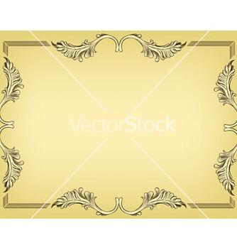Free vintage floral frame vector - Kostenloses vector #245847