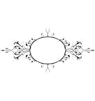 Free vintage floral frame vector - Kostenloses vector #245937