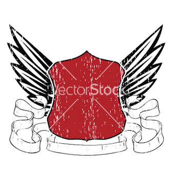 Free emblem with shield and wings vector - Kostenloses vector #246047