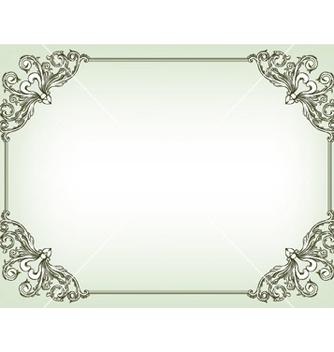 Free baroque floral frame vector - vector gratuit #246107