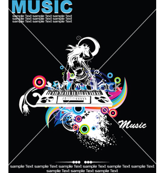 Free music background with dj vector - Kostenloses vector #246207