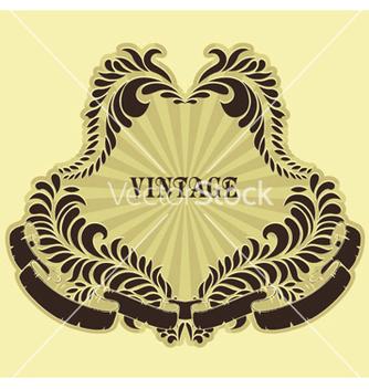 Free retro floral label vector - Free vector #246217
