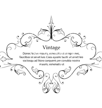 Free vintage floral frame vector - Free vector #246367