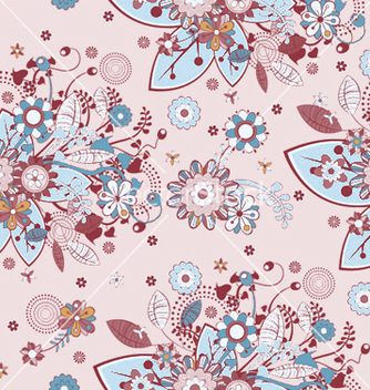 Free seamless floral pattern vector - Free vector #246387