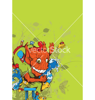 Free funny monsters vector - vector gratuit #246677