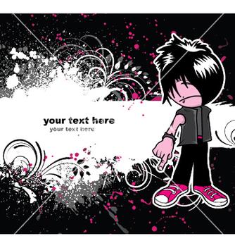 Free emo kid vector - Free vector #246697