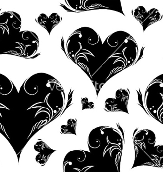 Free seamless pattern with hearts vector - Free vector #246707