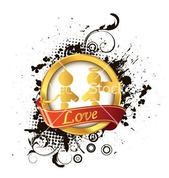 Free love label vector - vector #246947 gratis