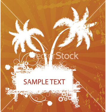 Free vintage summer background with palm trees vector - Free vector #246957
