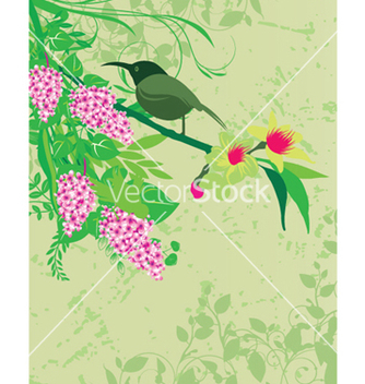 Free abstract spring floral background vector - Free vector #246987