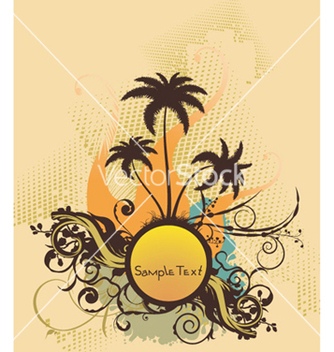 Free summer background with palm trees vector - бесплатный vector #247037