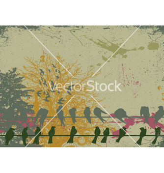 Free vintage background with birds vector - Free vector #247057
