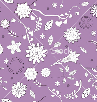Free floral seamless pattern vector - Free vector #247067