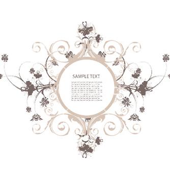 Free floral frame vector - Kostenloses vector #247147