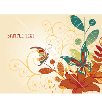 Free vintage floral background vector - vector #247207 gratis