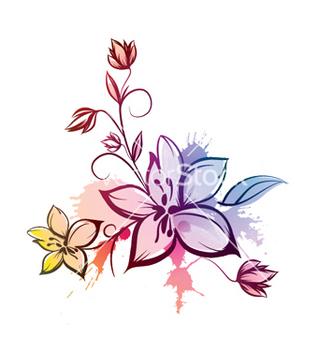 Free watercolor floral vector - vector gratuit #247337