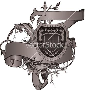Free vintage emblem with shield vector - Kostenloses vector #247467