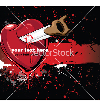 Free heart with grunge vector - Free vector #247827