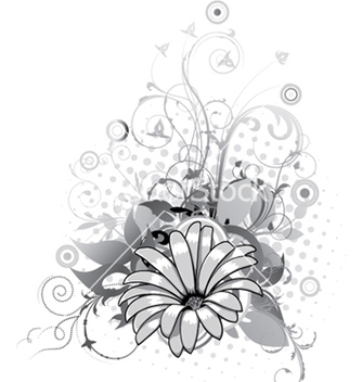 Free abstract flower with circles vector - Free vector #247987