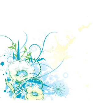 Free splash floral background vector - vector gratuit #248257
