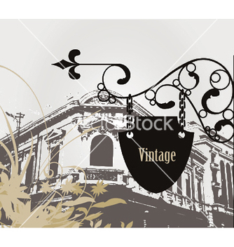 Free wrought iron sign vector - Free vector #248347